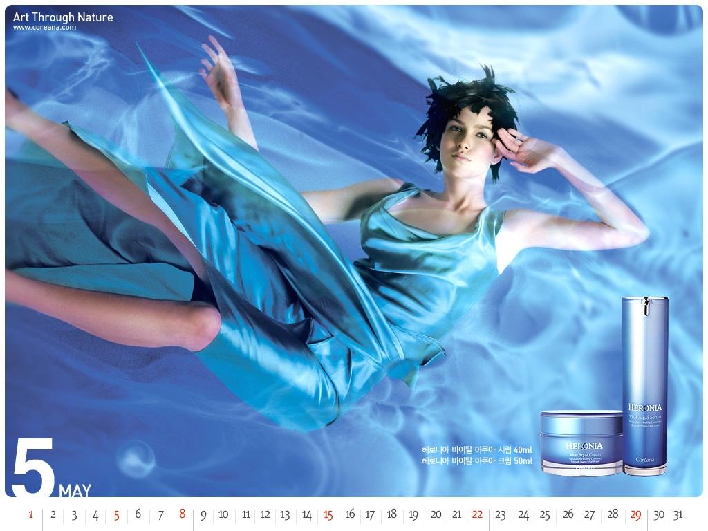 韩国化妆品Coreana广告模特